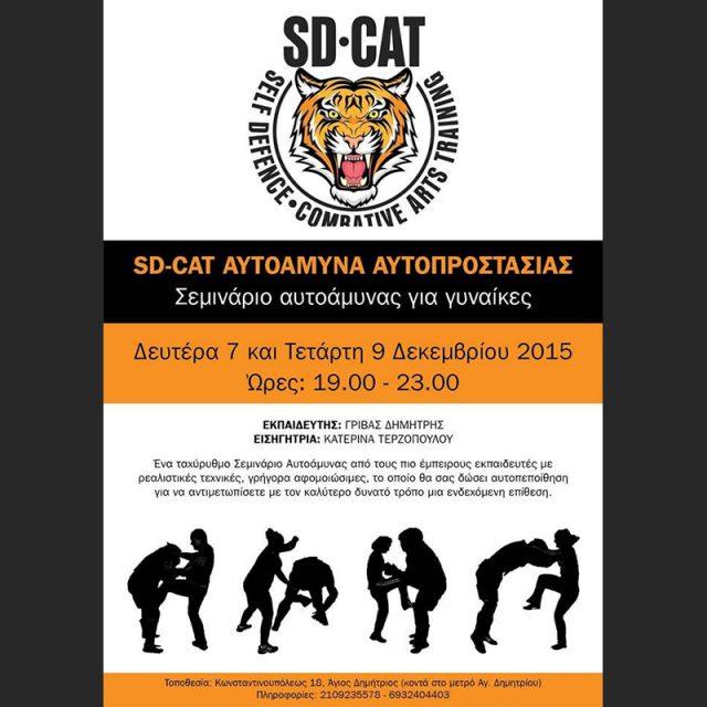 Σεμινάριο Αυτοάμυνα Γυναικών  7 και 9-12-15